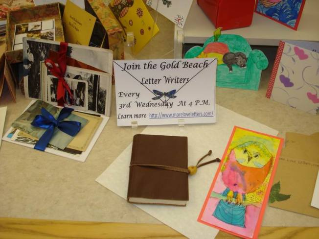Gold Beach Letter Writers Display