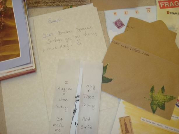 Sample Letter and Hand-Painted Envelope