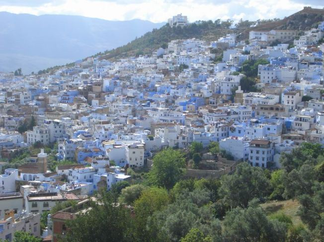 Looking Back Toward Chefchaouen from the Mosque Trail