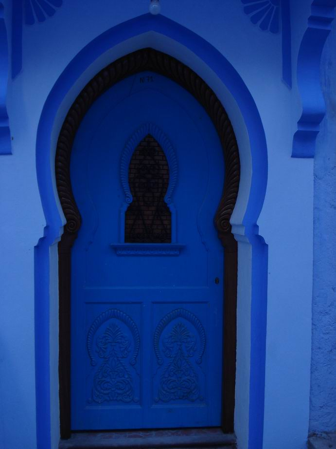 Keyhole Doorway Typical of the Beautiful Details Crafted Through the Centuries & Blue City IV \u2014 Inside and Outside the Medina | New Earth Paradigm
