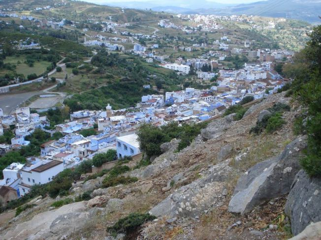 Overview of Chefchaouen from the Tower Trail