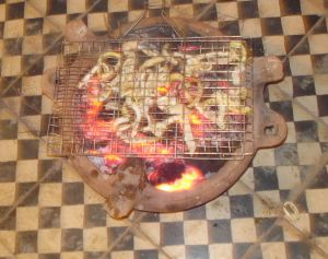 Grilled Calamari on Moroccan Space Heater