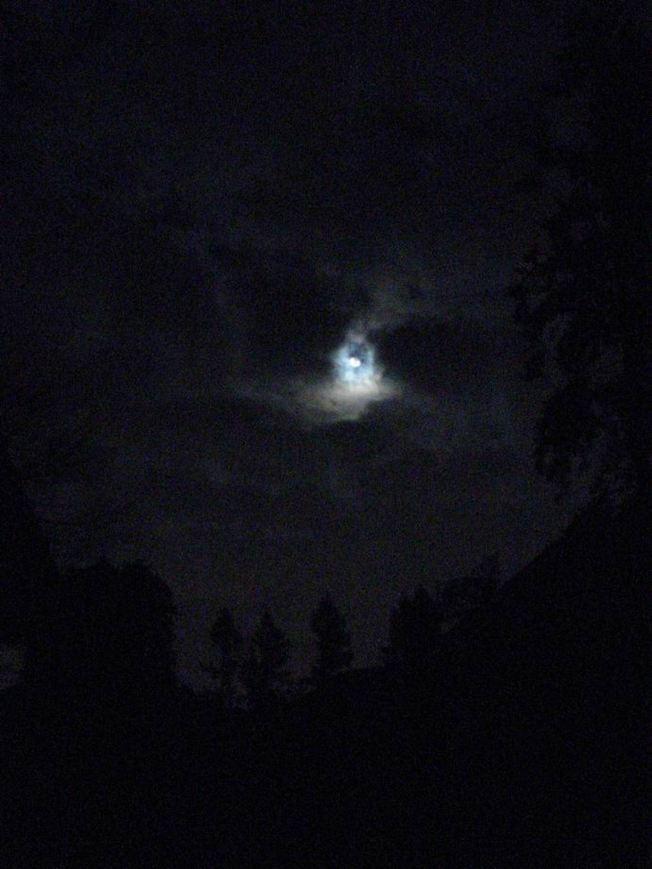 Christmas Full Moon Over Tacoma, WA   USA